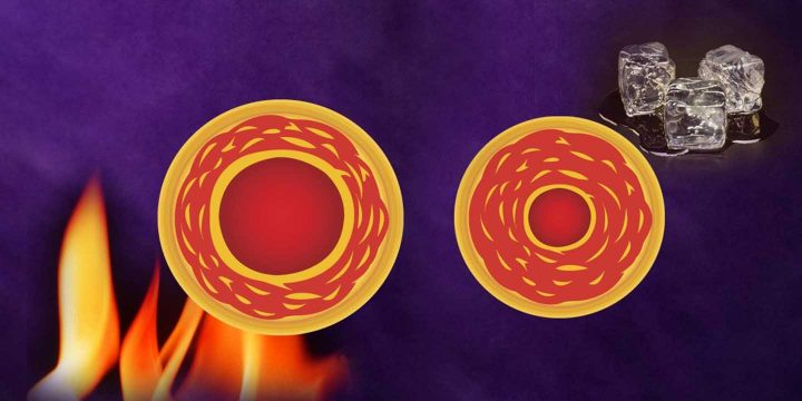 Auswirkungen von Wärme oder Kälte auf die Blutzirkulation - Vasoconstriktion und Vasodilatation